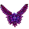 Crystal Motifs Necklace Wings Red Aurora Borealis